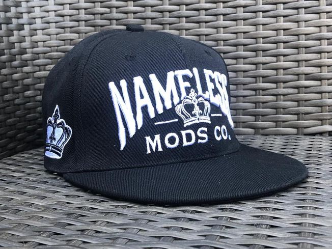 Black 3D Embroidered Snap Back